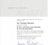 IQ-ZERT - zertifizierter Sachverständiger für Versicherungsschäden