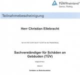 TÜV-Modul-2 Sachverständiger für Schäden an Gebäuden
