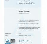 Rezertifizierung-Prüfung nach 3 Jahren zum Sachverständiger für Schäden an Gebäuden (TÜV) erfolgreich absolviert.