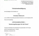 Netzwerkschimmel 6. Impuls-Veranstaltung 28.09.2018 Schimmelpilzschäden-Sanierungslösungen für die Praxis