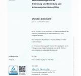 TÜV Rheinland Zertifizierung Sachverständiger für die Erkennung und Bewertung von Schimmelpilzschäden (TÜV)