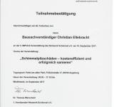 """Netzwerk Schimmel 5. Impuls Veranstaltung """"Schimmelpilzschäden - kosteneffizient und erfolgreich sanieren"""""""